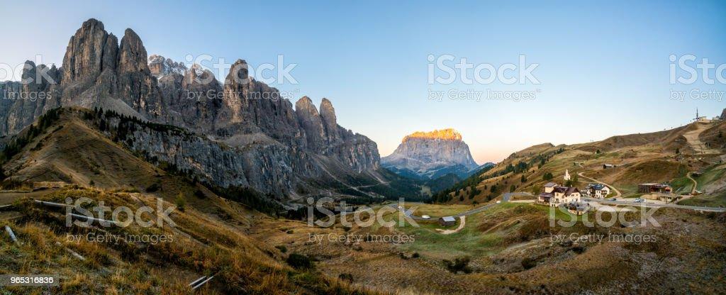 Dolomites Italy Landscape - Sassolungo Langkofel royalty-free stock photo