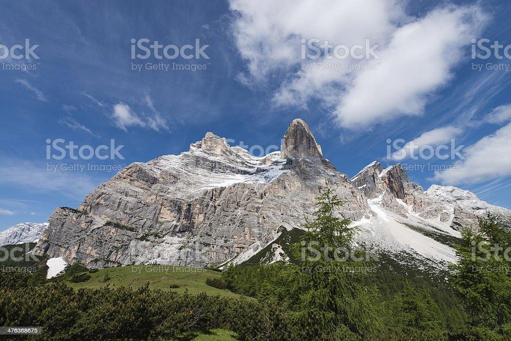 Dolomites Italy, Mt Pelmo royalty-free stock photo