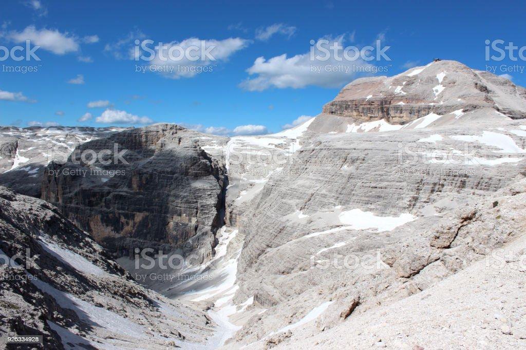 Dolomites, Italy - Piz Boe stock photo