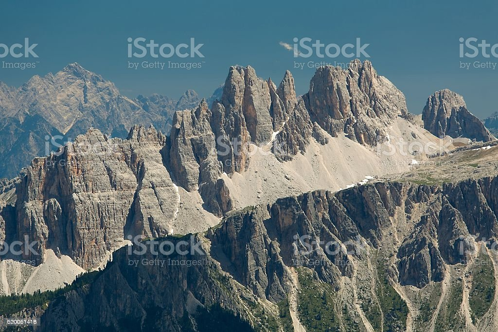 Dolomites mountain landscape stock photo
