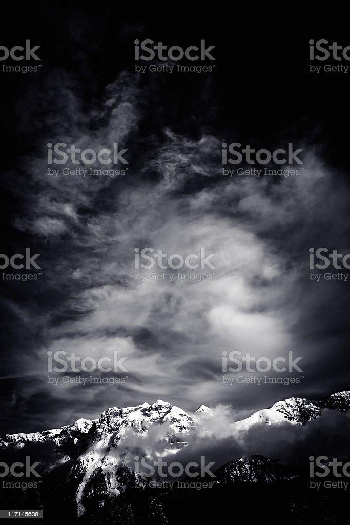 Dolomites of Brenta, Italian Alps, Madonna di Campiglio Nobody royalty-free stock photo
