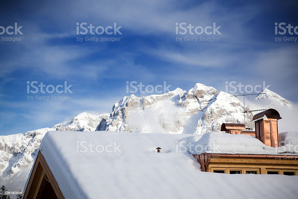 Dolomites of Brenta, Italian Alps, Madonna di Campiglio royalty-free stock photo