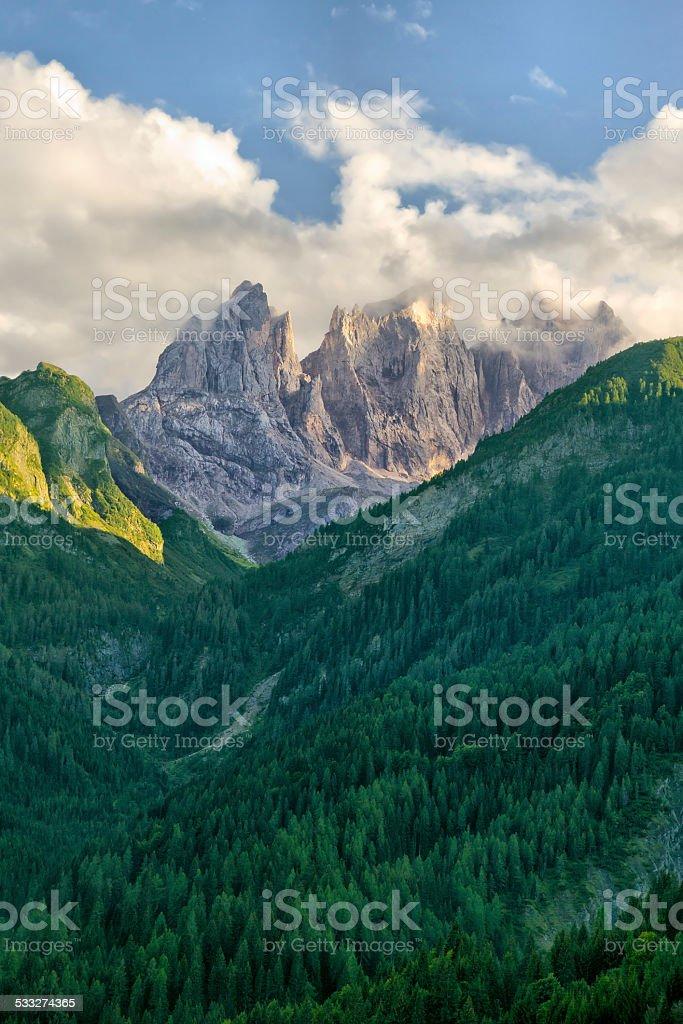 Dolomites - Pale di San Martino stock photo