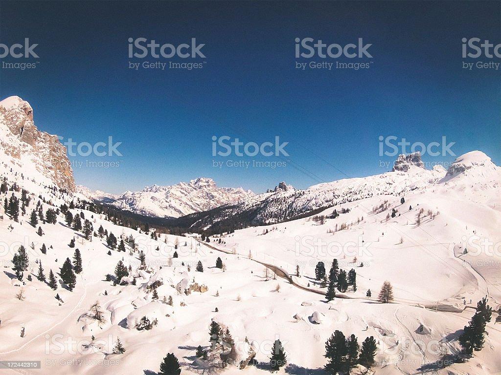 Dolomites Panoramic view royalty-free stock photo