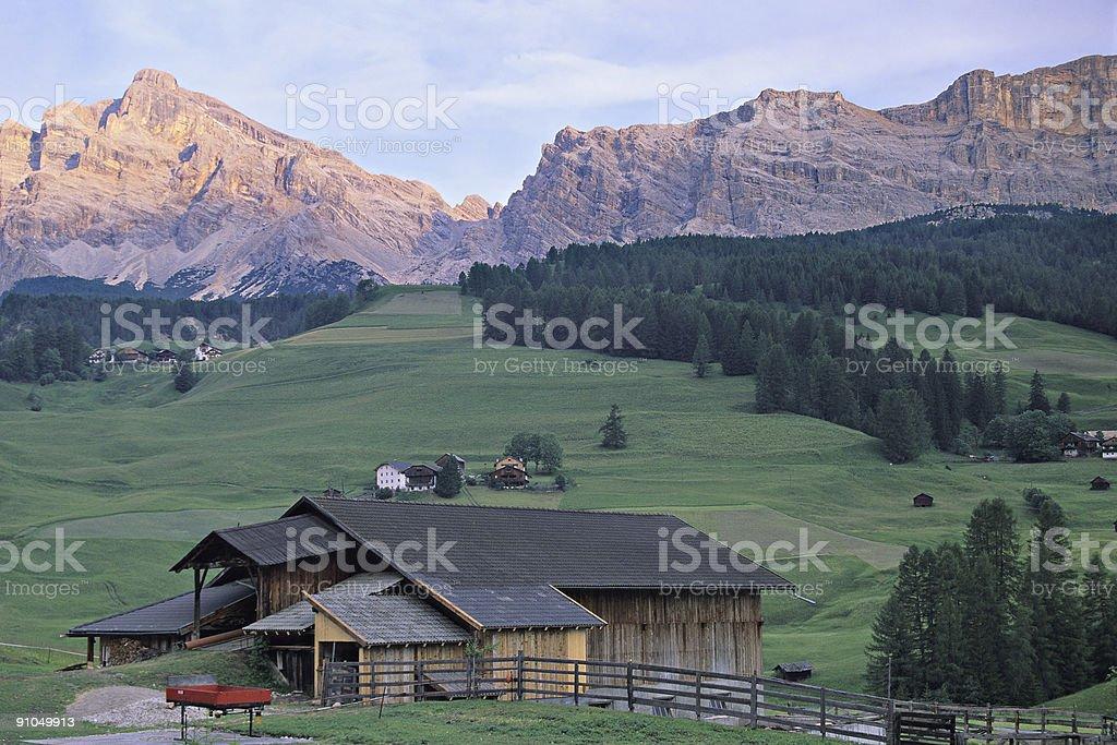 Dolomites Postcard stock photo