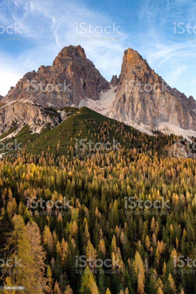 Dolomites sahne royalty-free stock photo