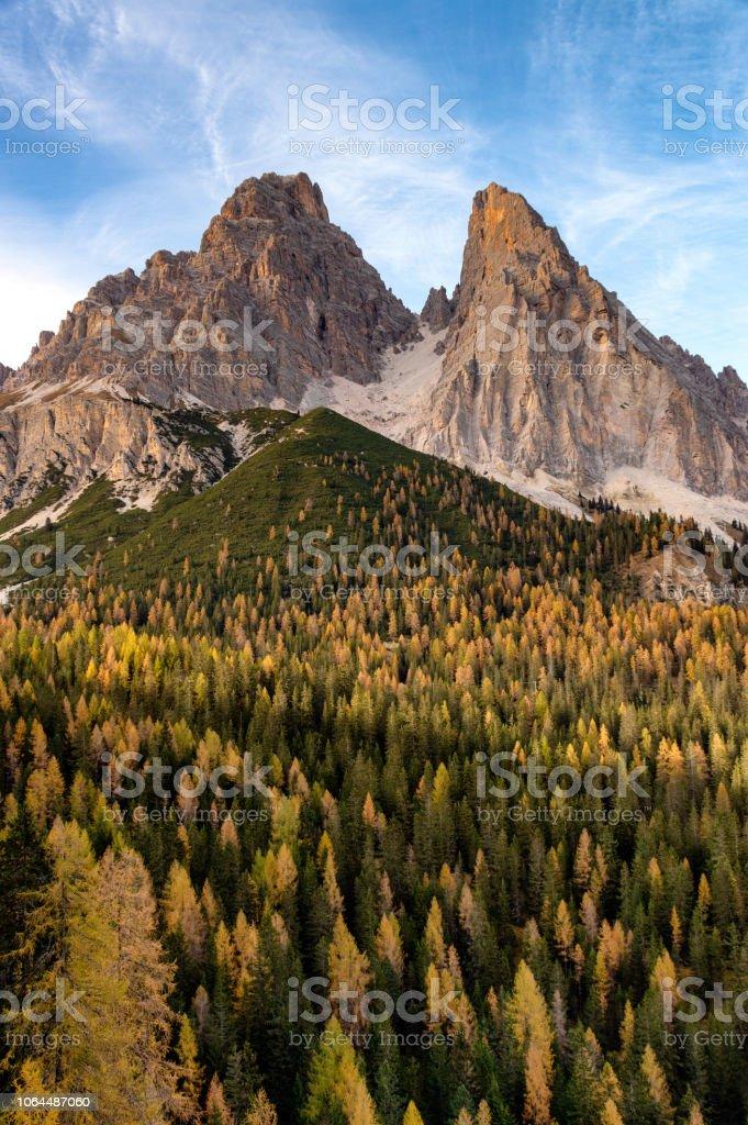 Dolomites sahne stok fotoğrafı