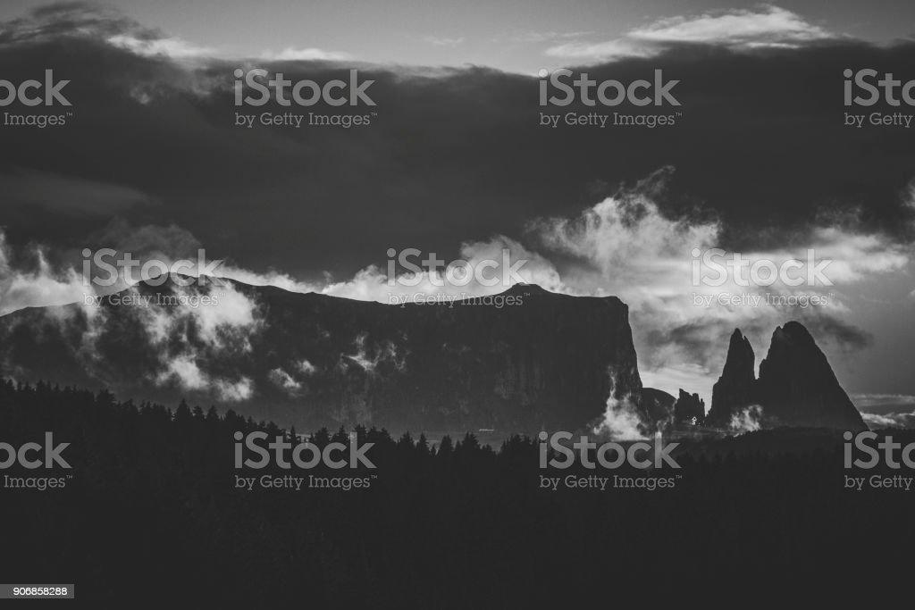 Dolomites scenics view stock photo