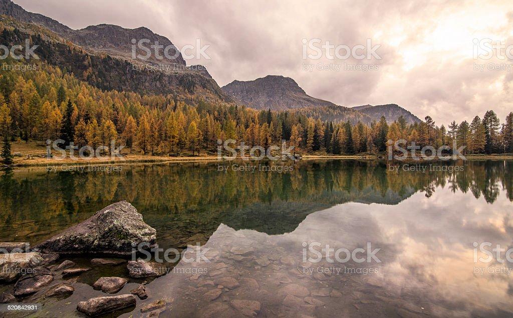 Dolomiti, Lago di San Pellegrino, Trentino Alto Adige stock photo