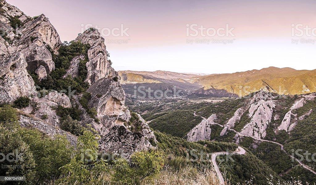 Dolomiti lucane, Italia stock photo