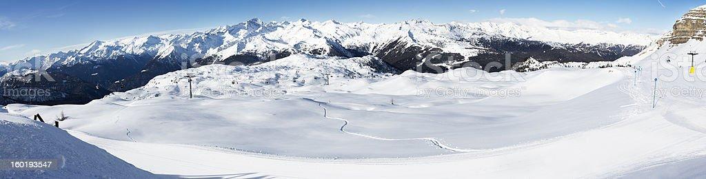 Dolomiti - Madonna di Campiglio Panorama stock photo