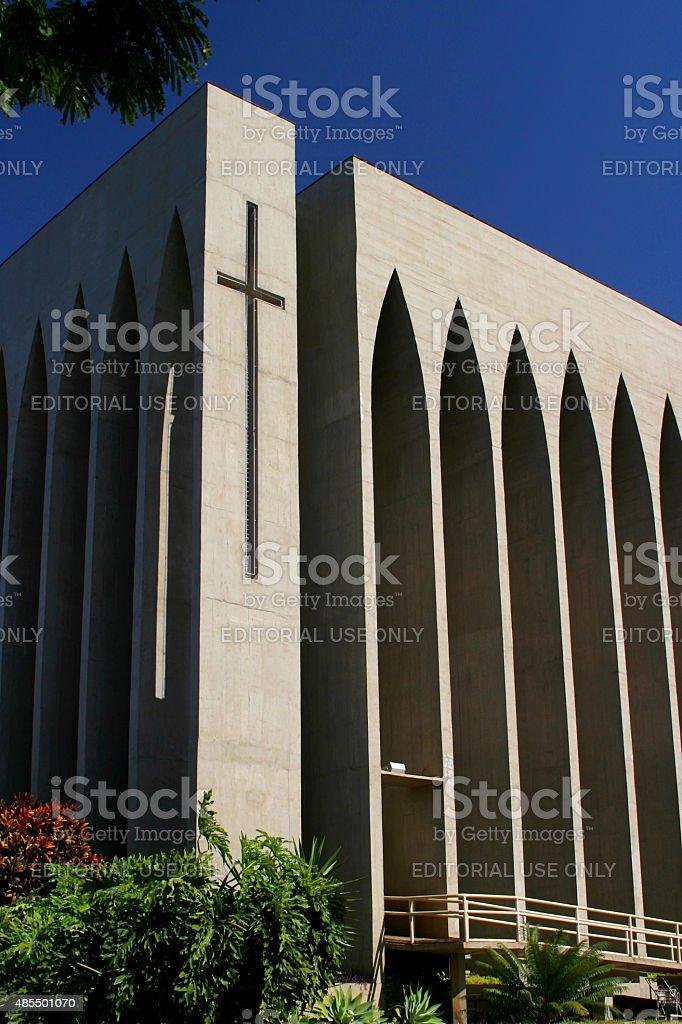 Dom Bosco Igreja em Brasília, Brasil foto royalty-free