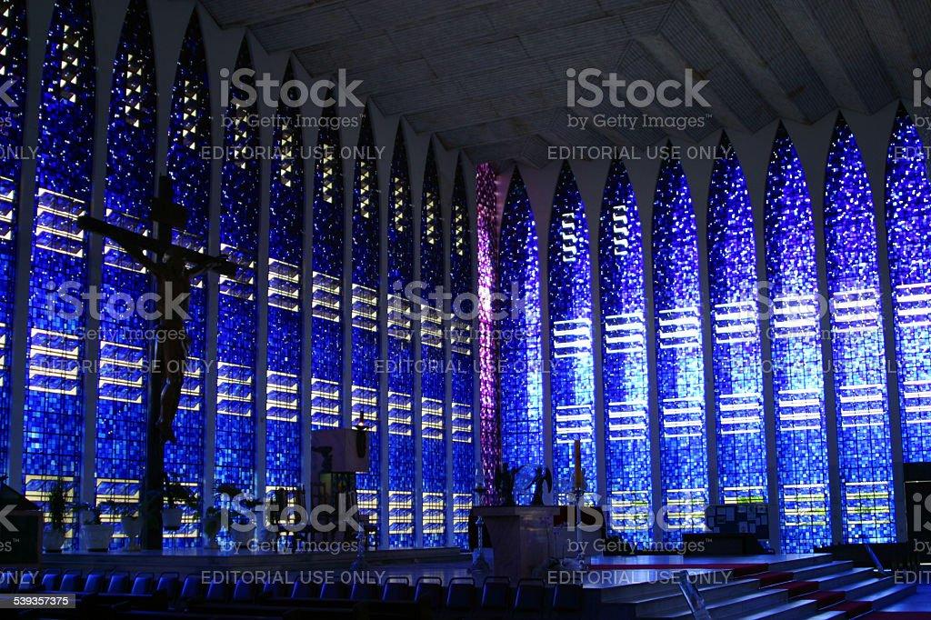 Dom Bosco Igreja Interior em Brasília, Brasil - foto de acervo