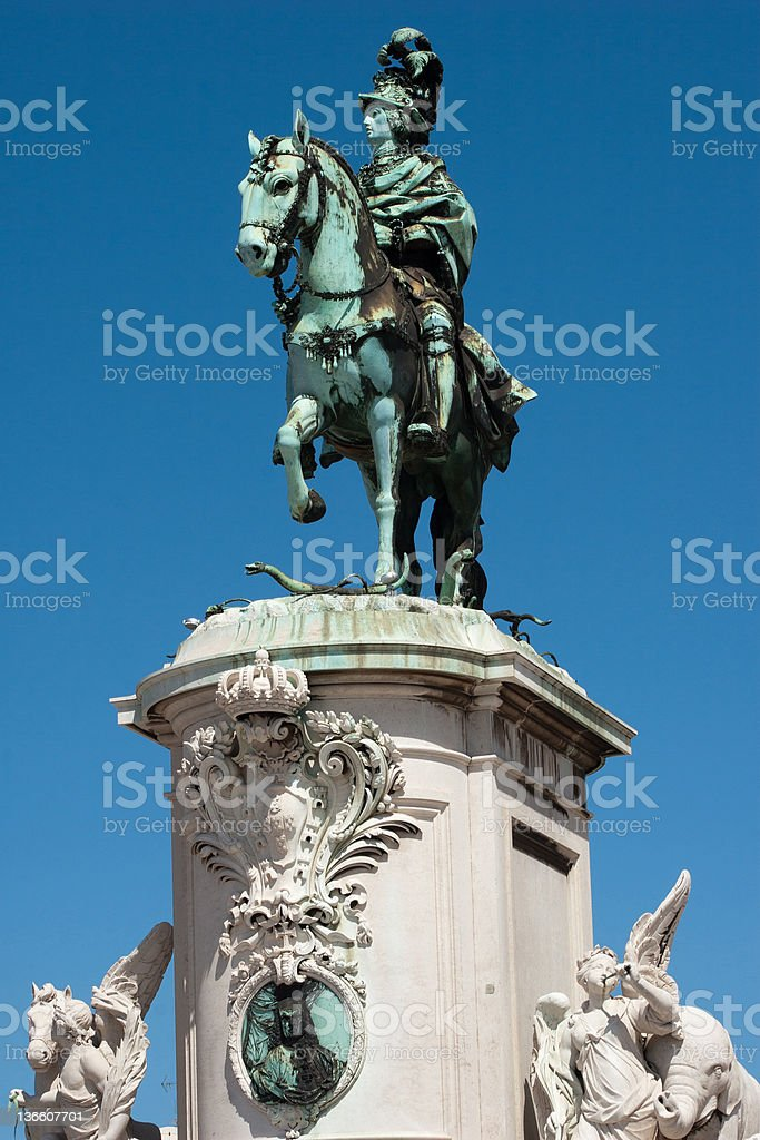 Dom Jose I statue royalty-free stock photo