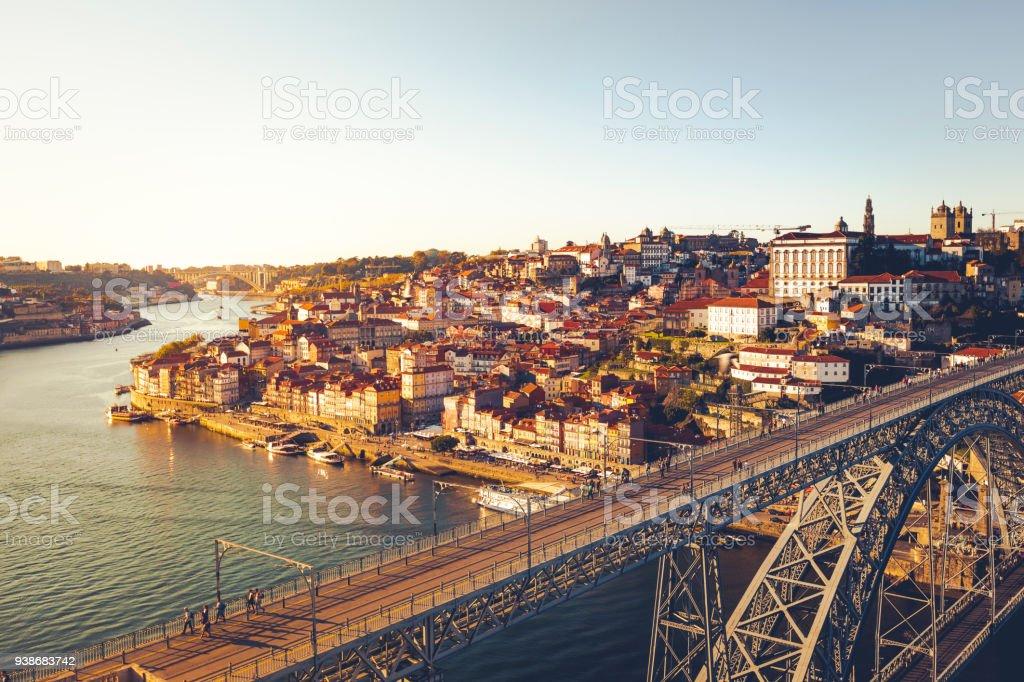 dom luis bridge in porto, portugal stock photo