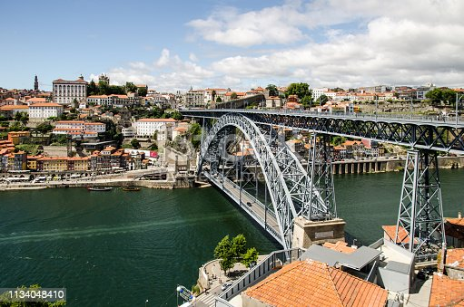 The Dom Luis I bridge in Porto, a steel structure designed by the french engineer Gustave Eiffel.