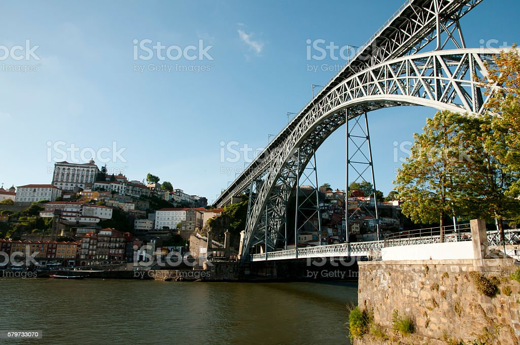 Dom Luis I Bridge - Porto - Portugal stock photo