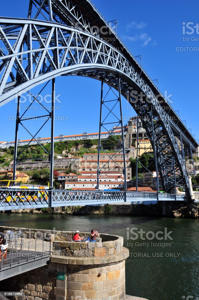 Dom Luís I Bridge, Porto / Vila Nova de Gaia, Portugal stock photo