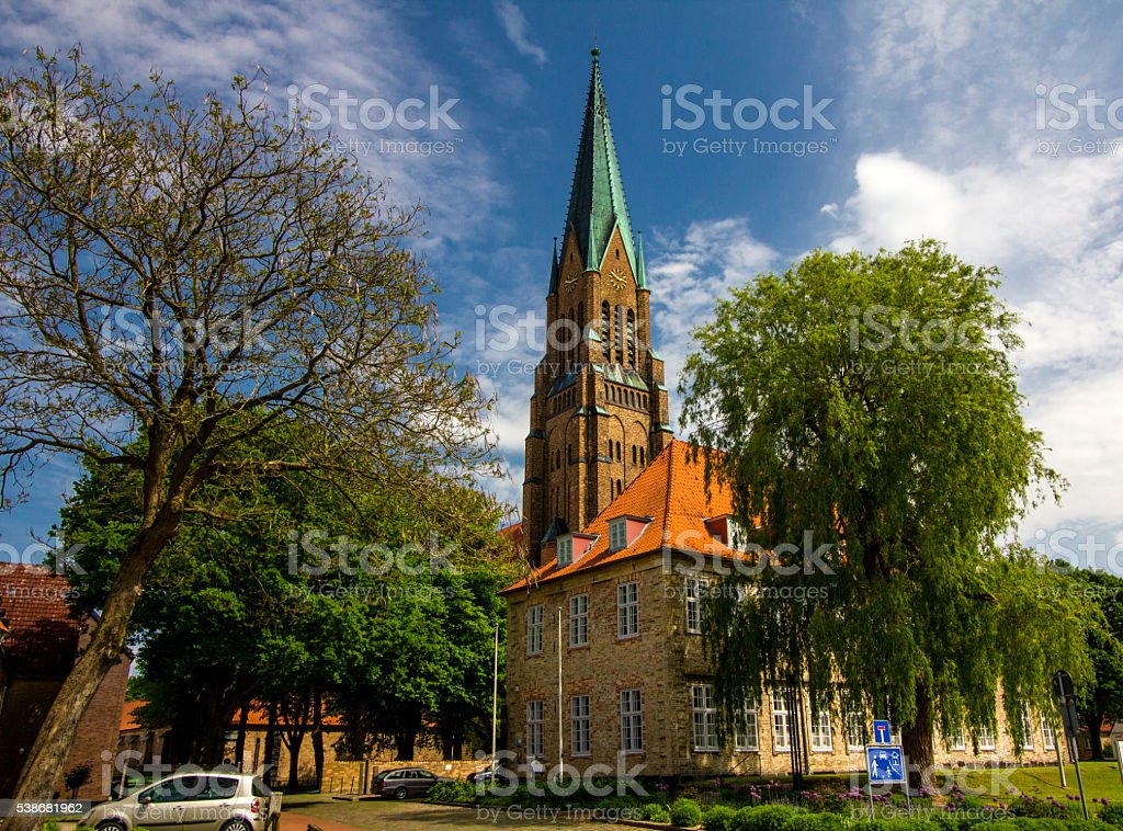 Dom of Schleswig in Schleswig-Holstein, Germany stock photo