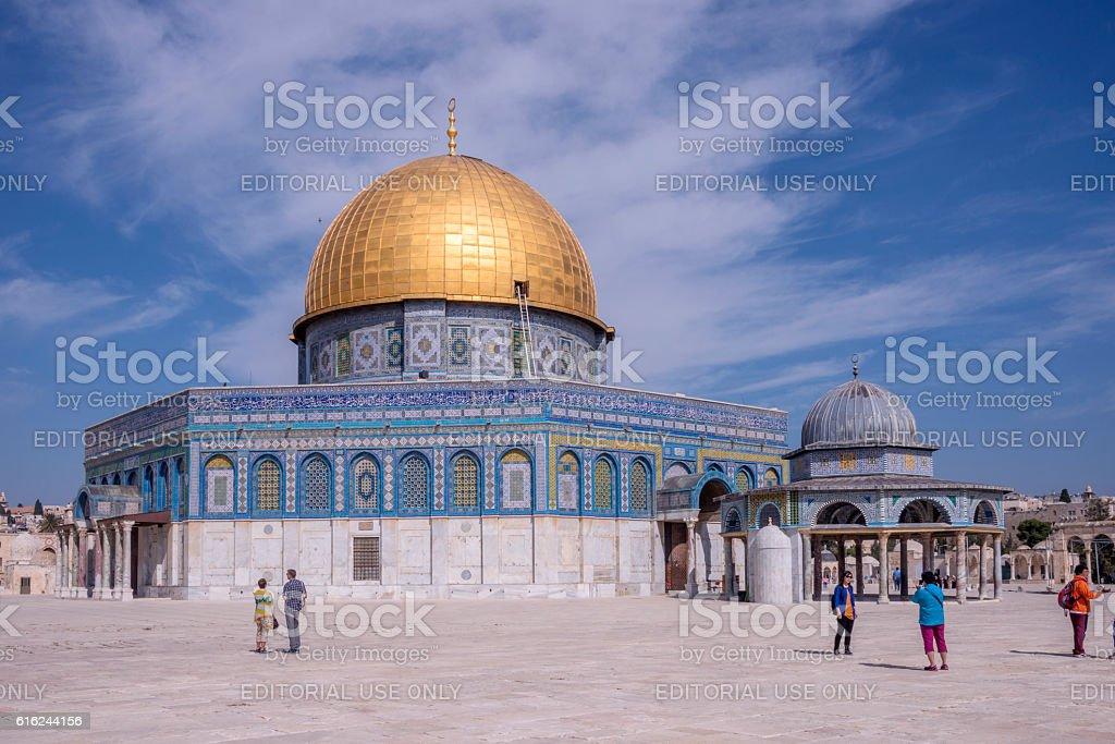 Dom of the Rocks in Temple Mount - foto de stock