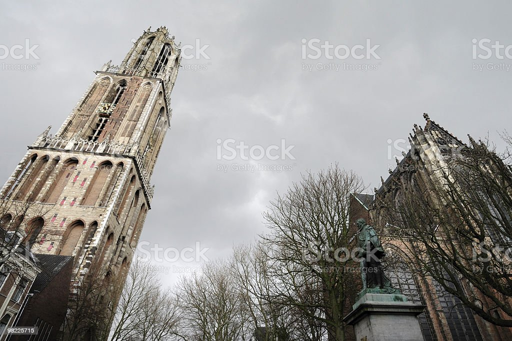 Dom tower and church in Utrecht royalty-free stock photo