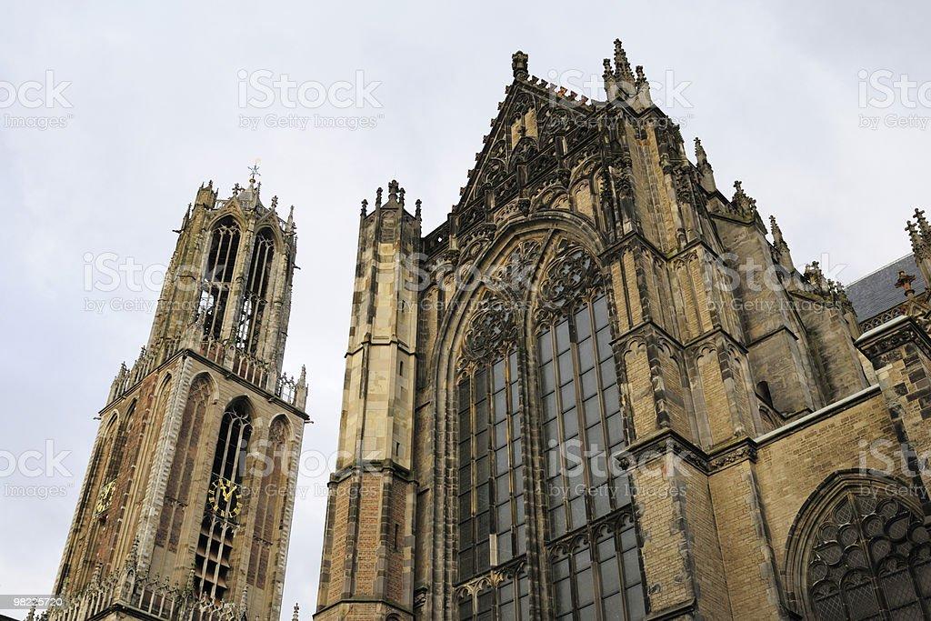 Dom tower e della Chiesa a Utrecht foto stock royalty-free