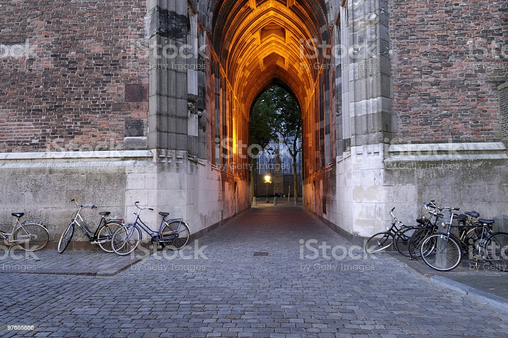 Dom tower in the evening royalty-free stock photo