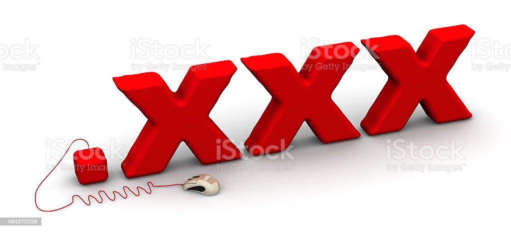 Domain for adult .xxx stock photo