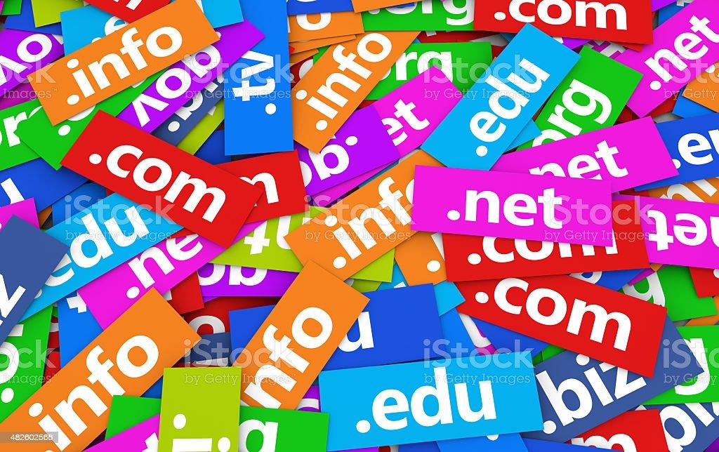 Domain Names Web Concept stock photo