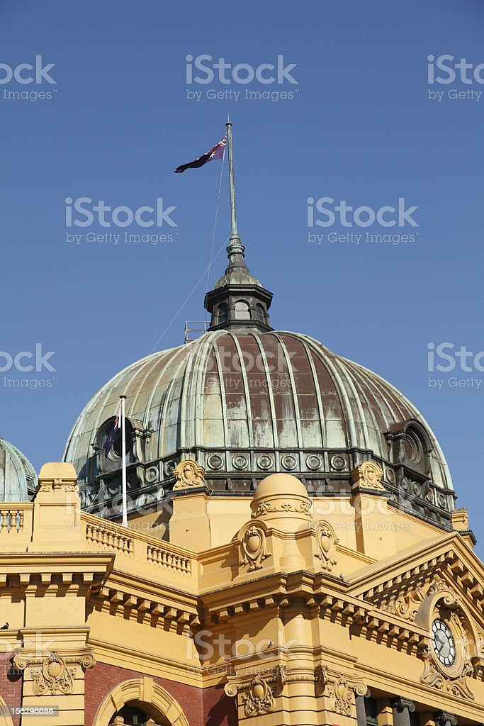 Dome and Flag stock photo