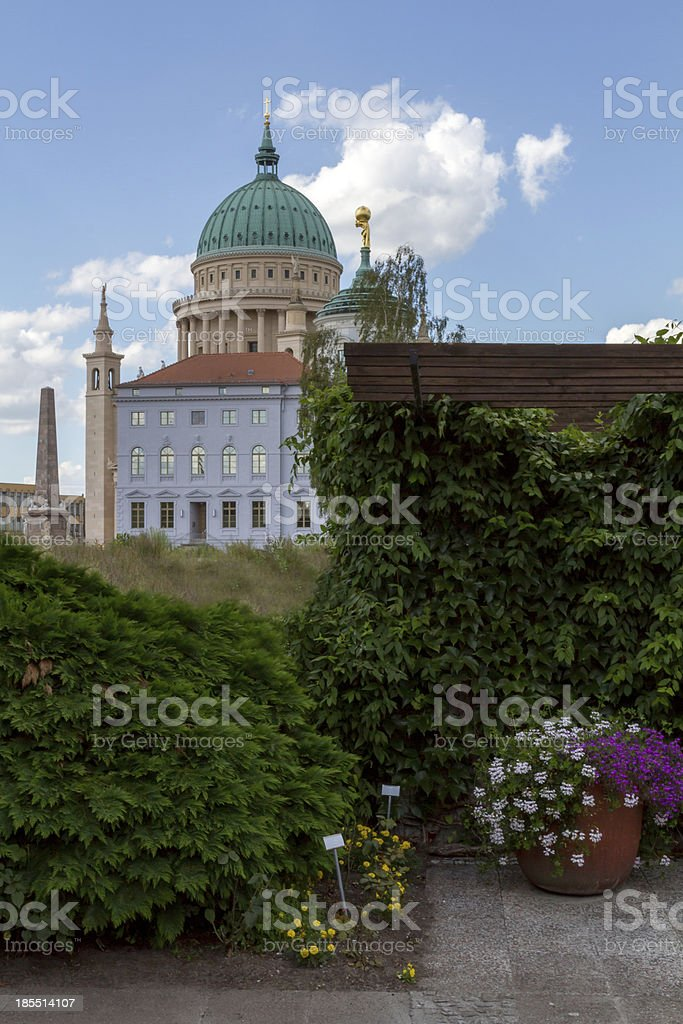 Dome and old town hall in Potsdam royalty-free stock photo
