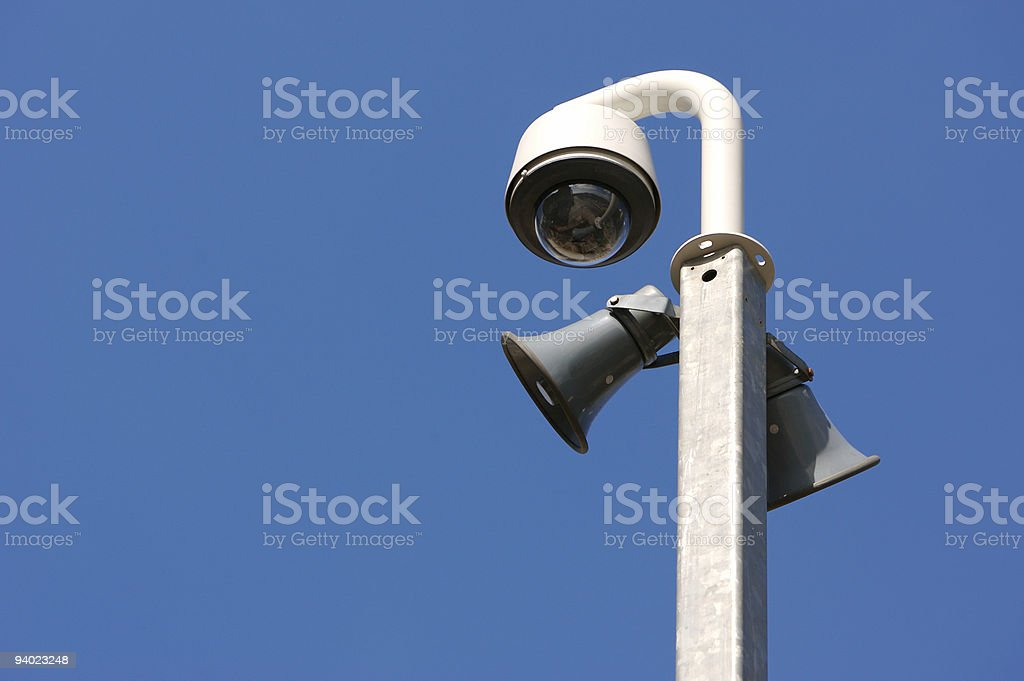 CCTV dome and tannoy royalty-free stock photo