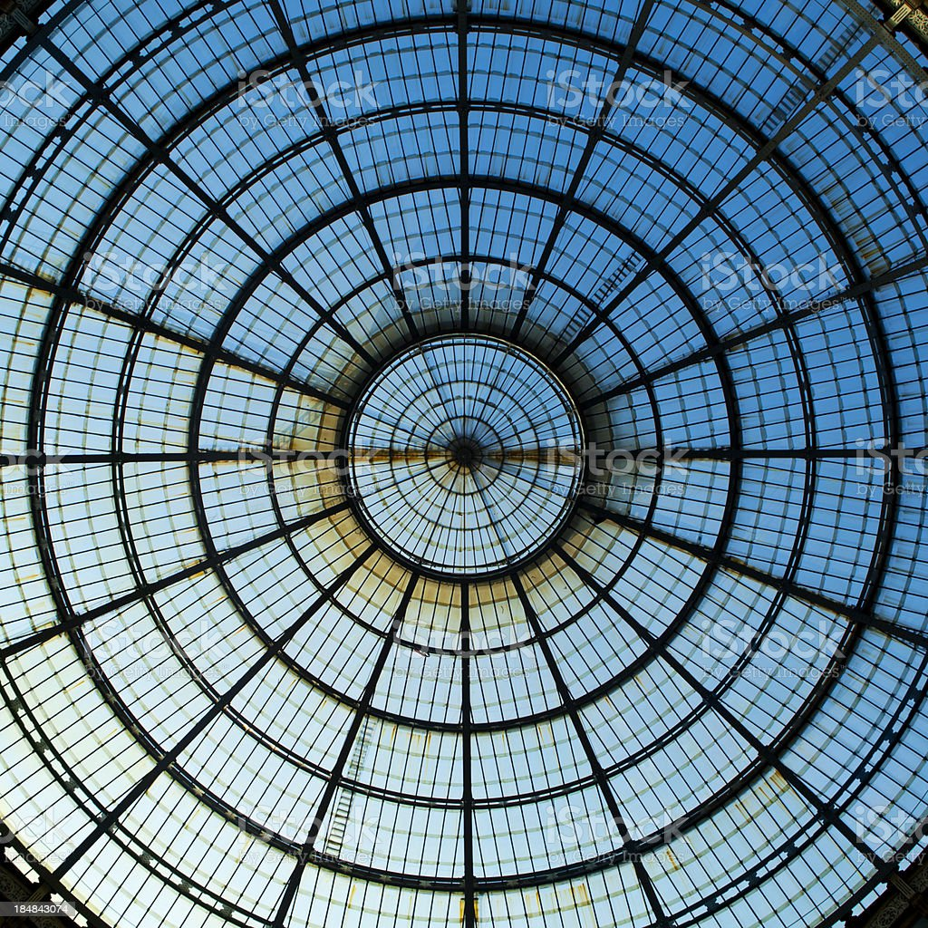 Dome at Galleria Vittorio Emanuelle II stock photo
