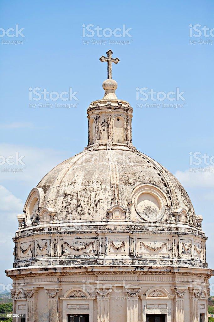 Dome at Iglesia de la Merced stock photo
