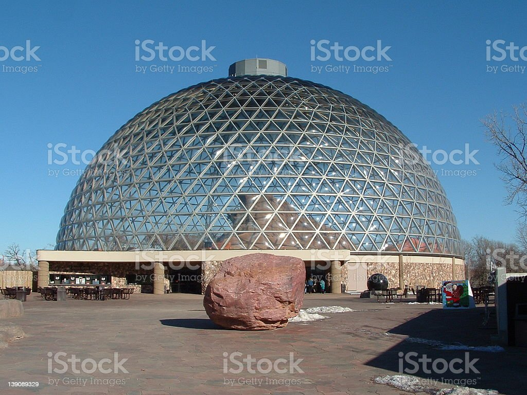 Dome at Zoo stock photo