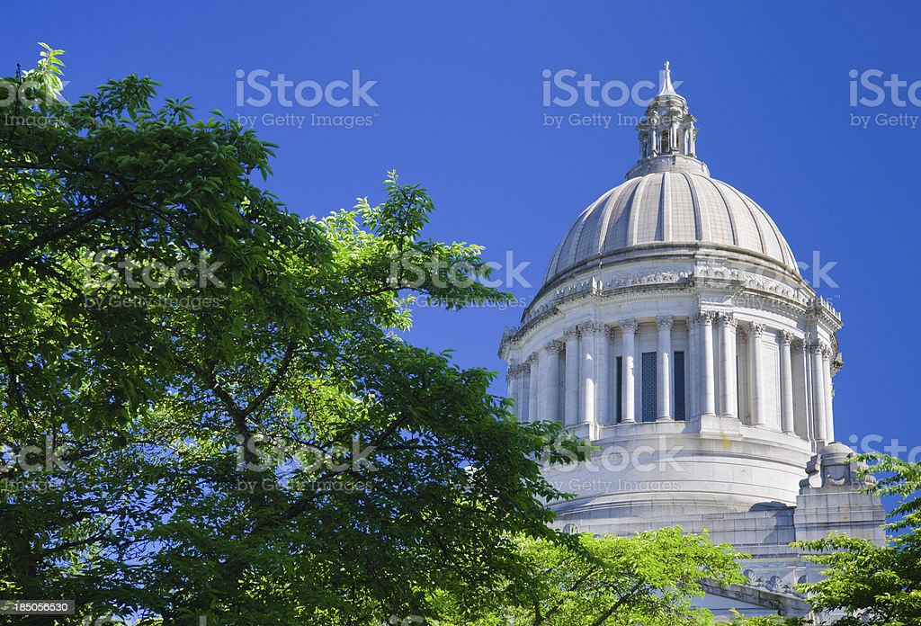Dome atop Washington state capitol building in Olympia, WA.