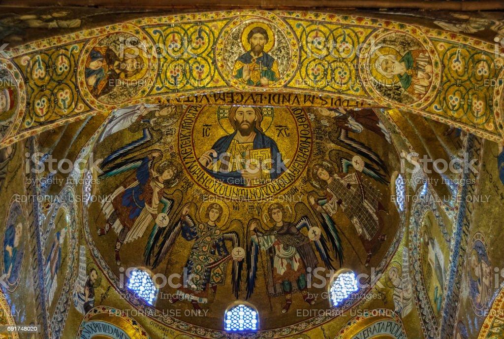 Dome Cappella Palatina - Palermo stock photo