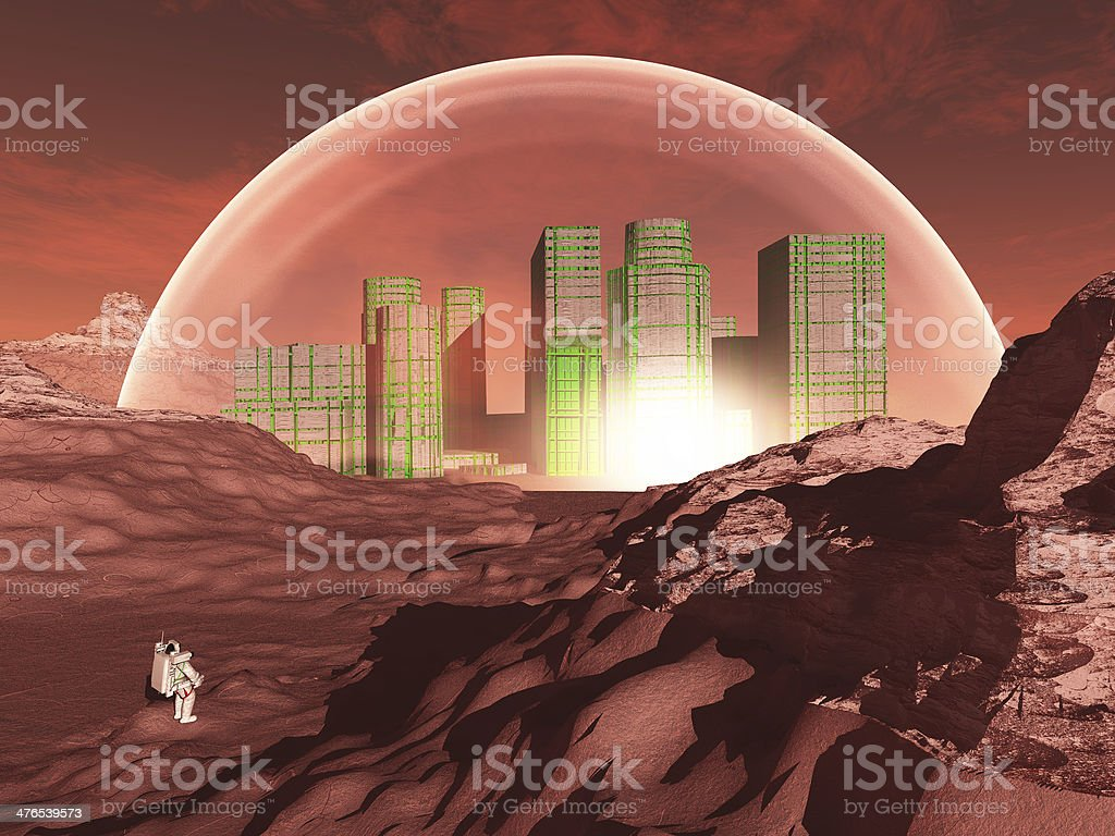 Dome city stock photo