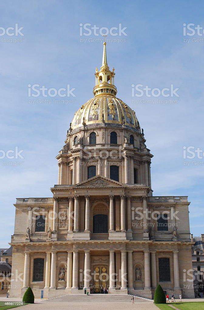 Dome des Invalides, Paris, France stock photo