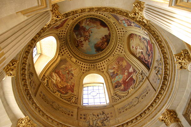 dome des invalides, paris stock photo