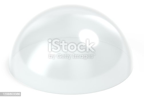 istock Dome glass 3d rendering 1206803386