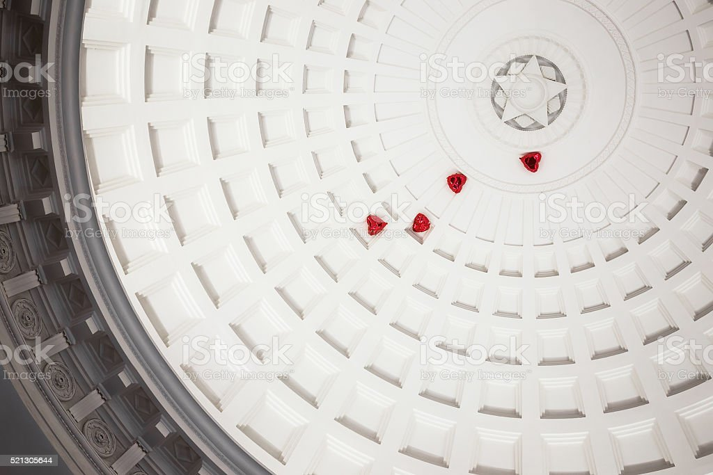 Dome in Moscow metro stock photo
