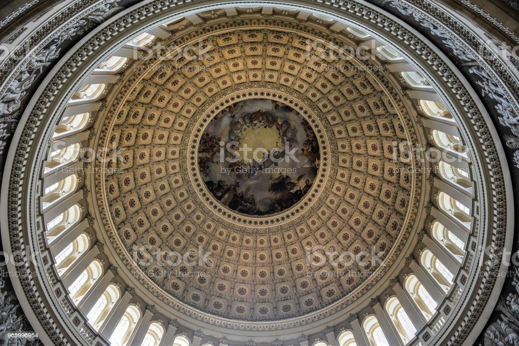 Kuppel im Inneren US Capitol, Washington DC - Lizenzfrei Anhöhe Stock-Foto