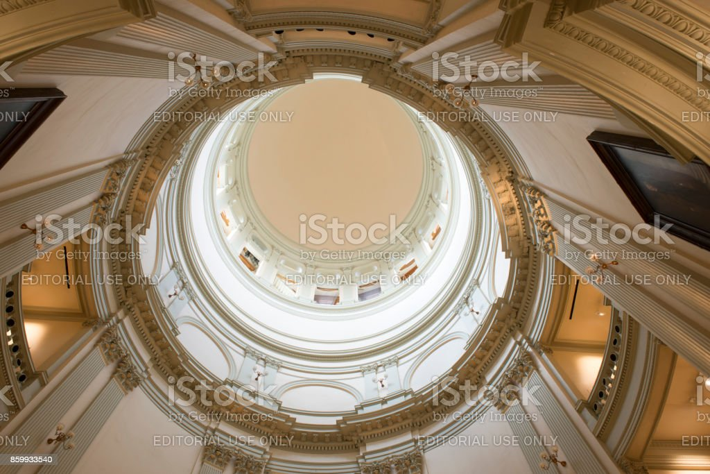 Dome interior of Georgia State Capitol stock photo