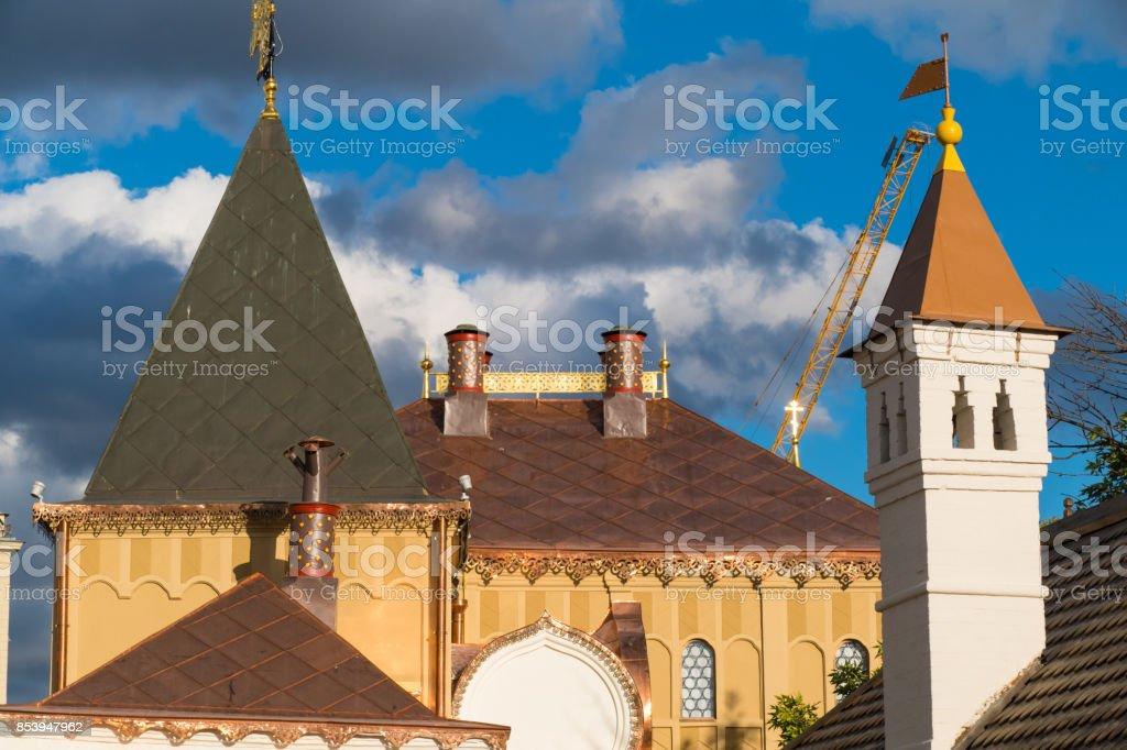 Dome of a copper building stock photo
