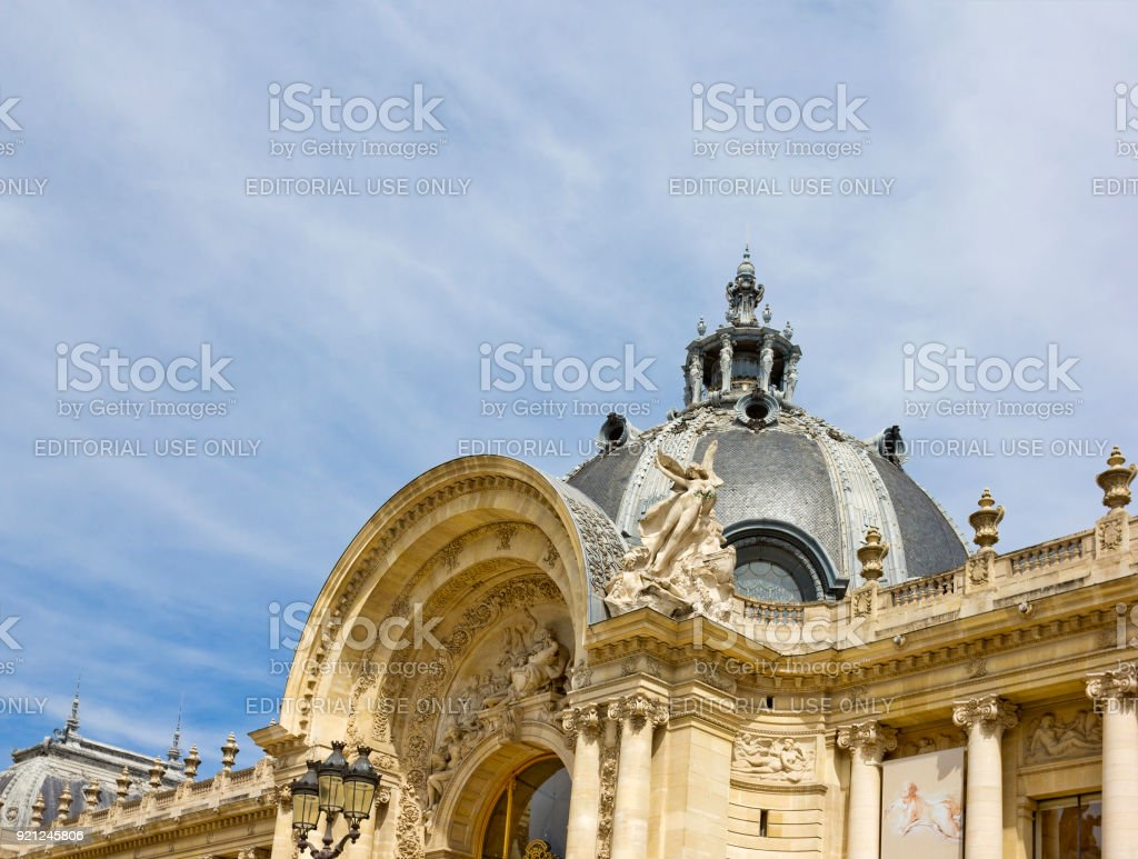 Dome of Baroque Petit Palais in Paris, France stock photo