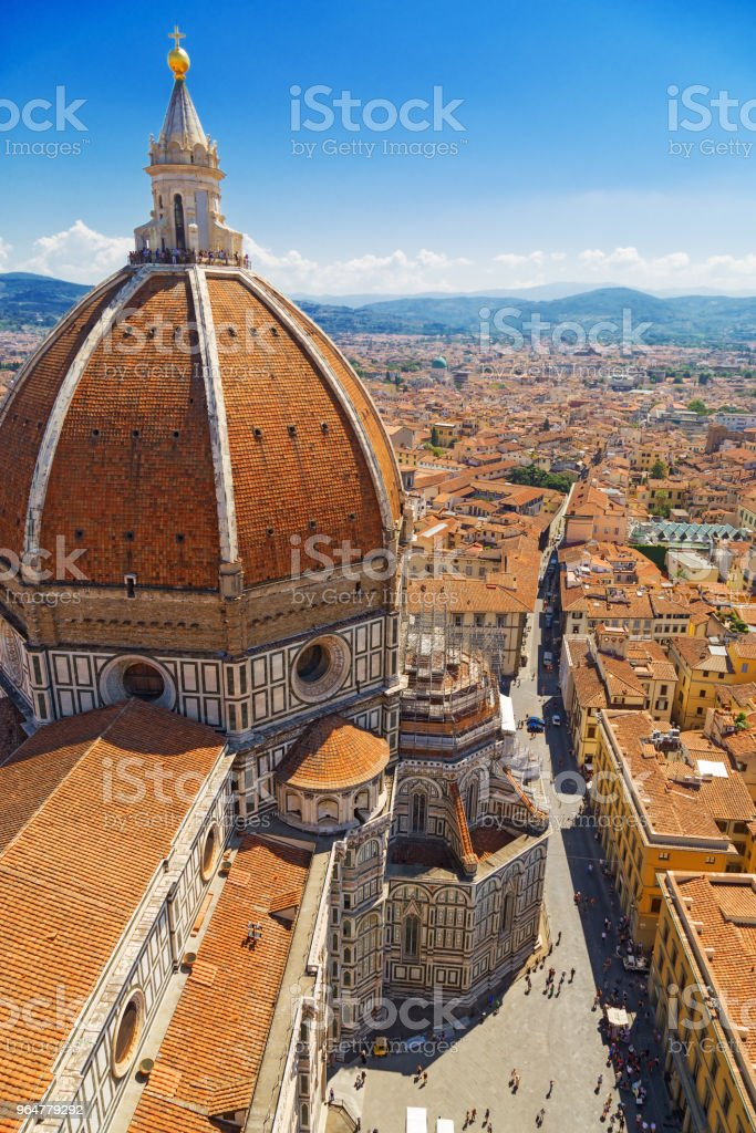Dome of Cathedral of Saint Mary of Flower. royalty-free stock photo