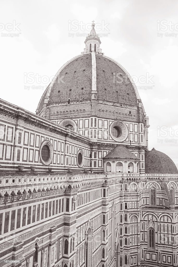 Dome of Florence Cathedral, Italy royalty-free stock photo
