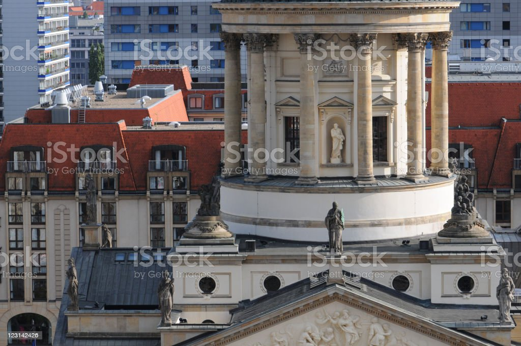 dome of German Cathedral at Gendarmenmarkt (Berlin) royalty-free stock photo