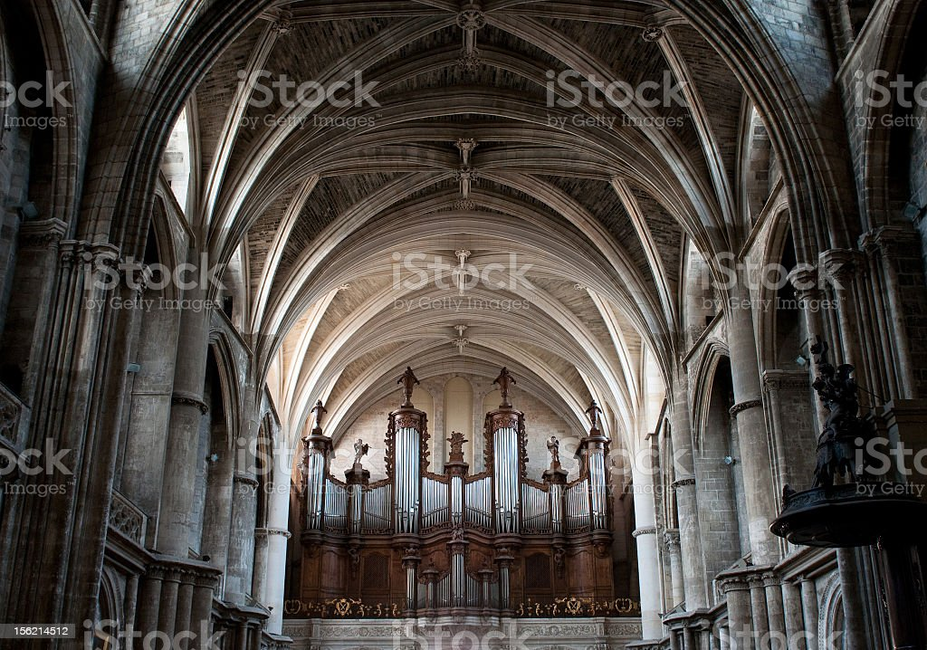 Dome of gothic cathedral stock photo